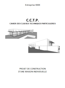 Présentation CCTP pour un projet de maison individuelle