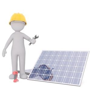 Installation d'un panneau solaire